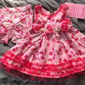 Flower dress and diaper cover
